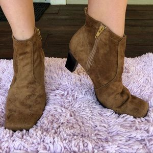 Suede Booty Boots
